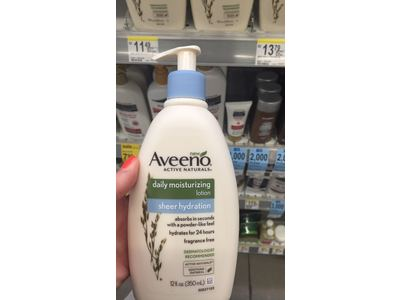 Aveeno Active Naturals Daily Moisturizing Sheer Hydration Lotion, 12 fl. oz. - Image 3