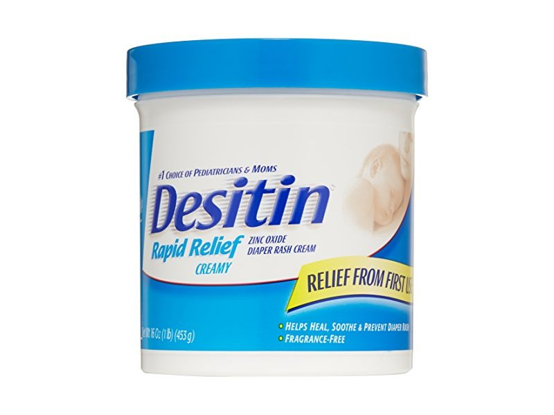 Desitin Rapid Relief Diaper Rash Cream, 16 ounce