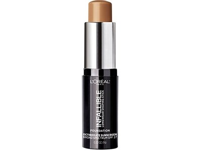 L'Oreal Paris Makeup Infallible Longwear Foundation Shaping Stick, Up to 24hr Wear, Medium to Full Coverage Cream Foundation Stick, 410 Cocoa, 0.3 oz. - Image 1