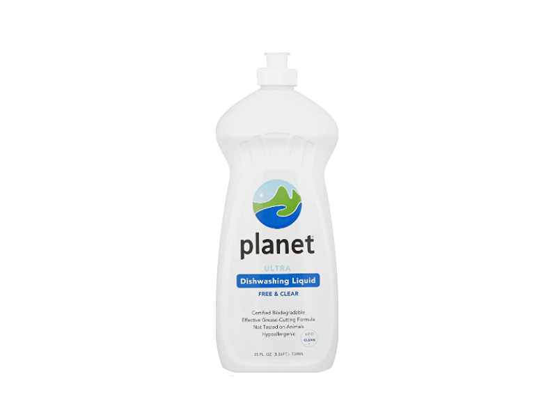 Planet Ultra Dishwashing Liquid, Free & Clear, 25 fl oz (739 mL)