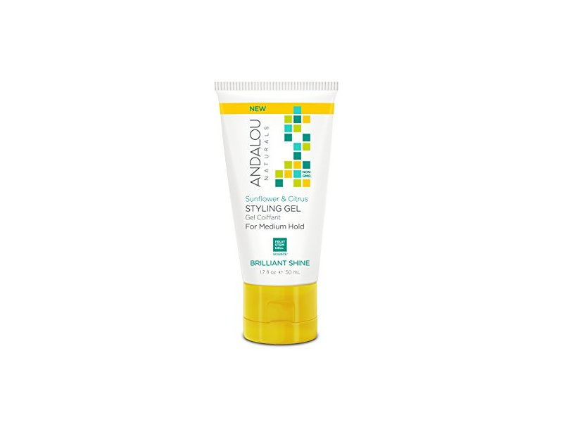 Andalou Naturals Styling Gel Sunflower Citrus, 1.69 Fl Oz