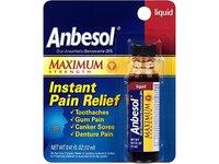 Anbesol Maximum Strength Instant Pain Relief Liquid, 0.41 oz (Pack of 2) - Image 2