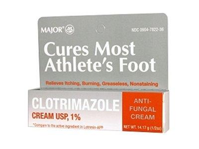 Major Pharmaceuticals Clotrimazole Cream 1% Tube, 28.35 Gram