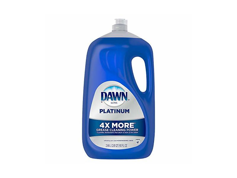 Dawn Ultra Platinum Power Dishwashing Liquid, Refreshing Rain, 90 Ounce