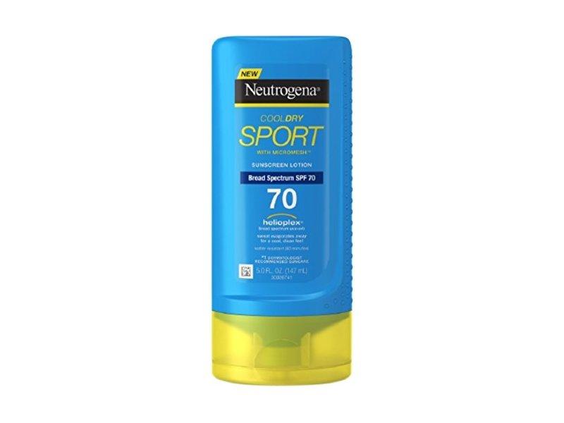 Neutrogena CoolDry Sport SPF 70 Sunscreen Lotion, 5 Fluid Ounce
