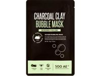 SOO AE Charcoal Clay Bubble Mask, Oxygen Bubbling, 0.35 oz - Image 2