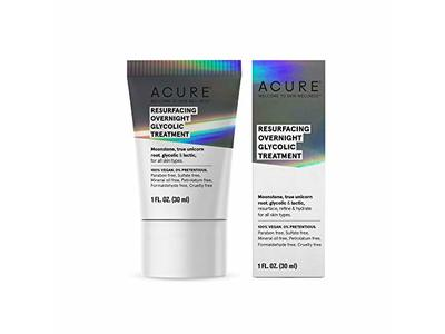 Acure Resurfacing Overnight Glycolic Treatment, 1 fl oz/30 ml
