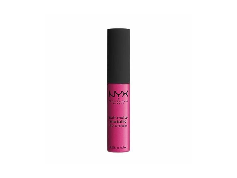 NYX Professional Makeup Soft Matte Metallic Lip Cream, Paris, 0.22 Ounce