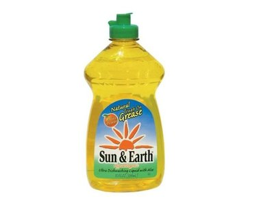 Sun and Earth Liquid Dish Soap, Light Citrus, 13 fl oz