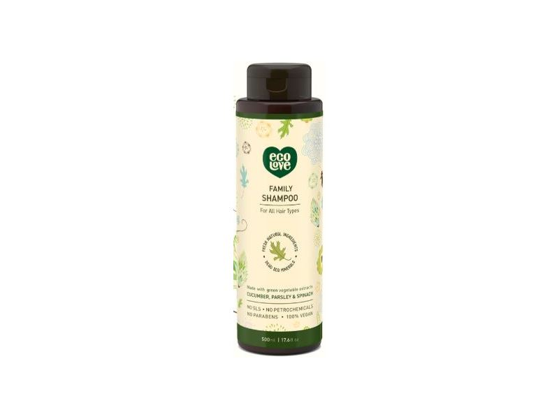 Eco Love Family Shampoo, Cucumber Parsley and Spinach, 1000 mL
