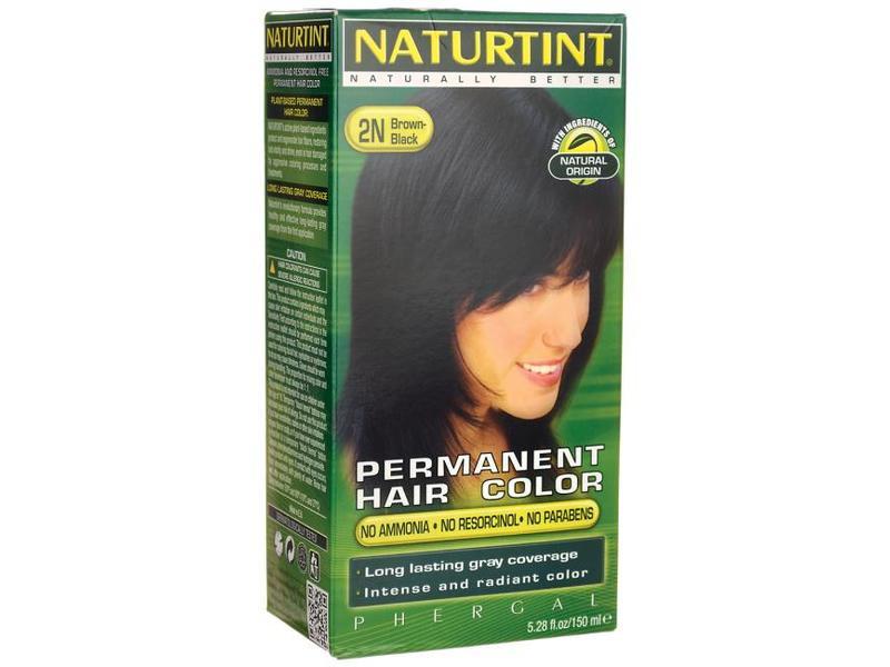 Naturtint Permanent Hair Color 2n Brown Black Color Developer