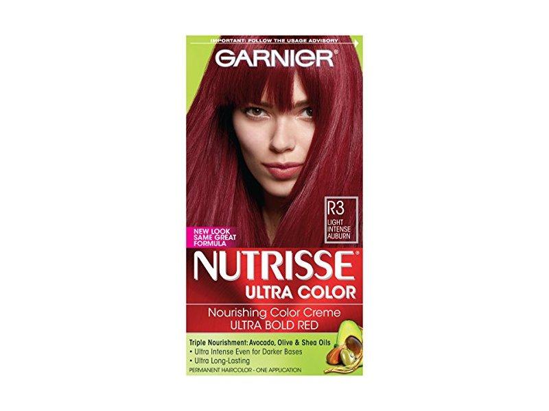 Garnier Nutrisse Ultra Color Nourishing Hair Color Creme, R3 Light Intense Auburn