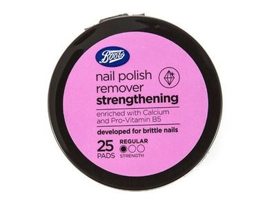Boots Nail Polish Remover, Strengthening, 25 ct