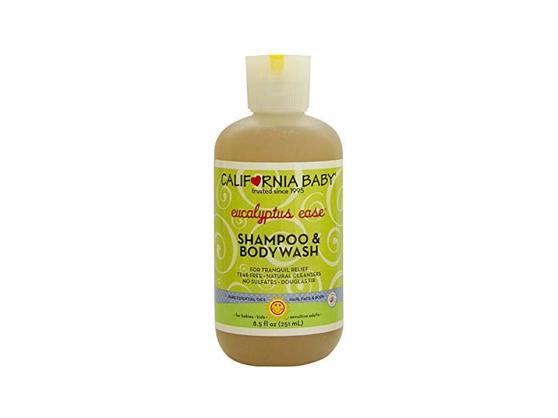 California Baby Eucalyptus Ease Shampoo and Body Wash 8.5 oz.