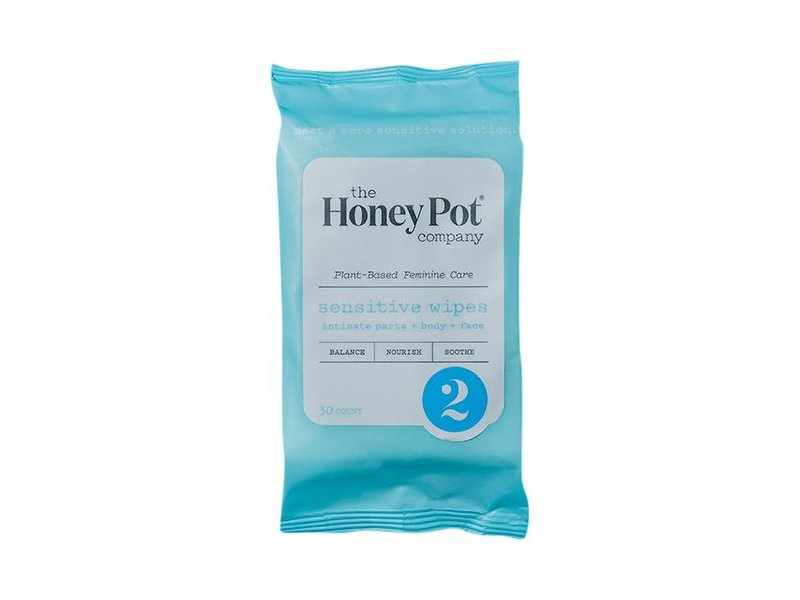 The Honey Pot Company Sensitive Wipes, 30 count