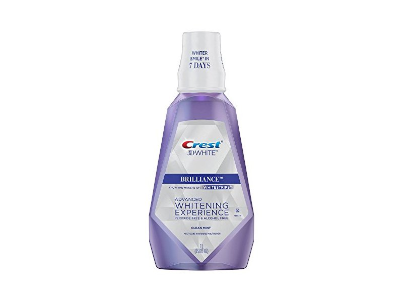 Crest Brilliance Whitening Experience Mouth Wash, Clean Mint 33.8 fl oz,