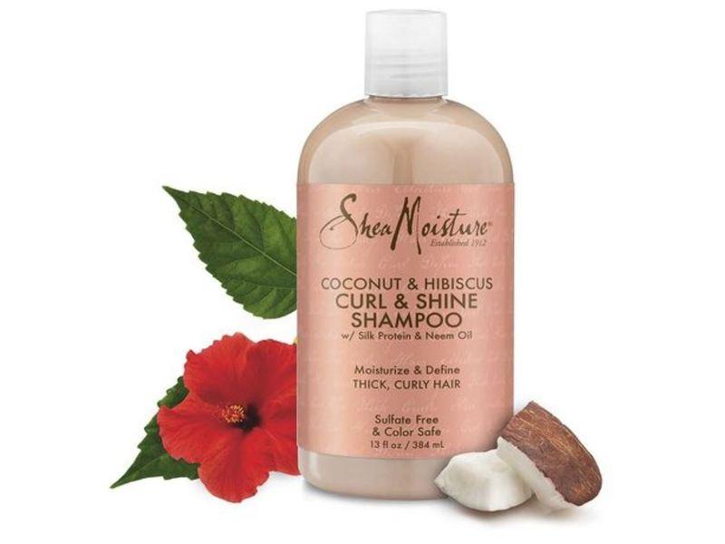 SheaMoisture Curl & Shine Shampoo, Coconut & Hibiscus, 13 fl oz