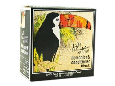 Light Mountain Natural Hair Color & Conditioner, Black, 4 fl oz