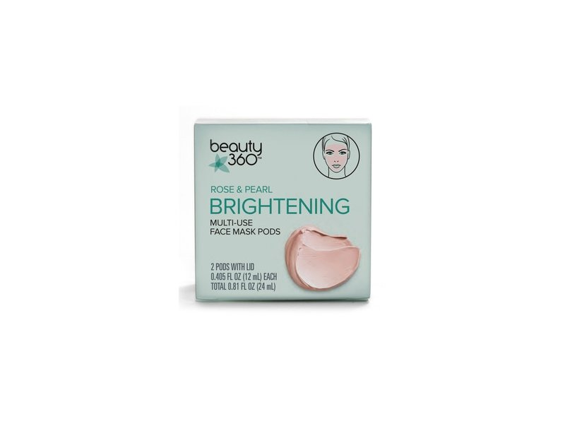 Beauty 360 Rose & Pearl Brightening Multi-Use Face Mask Pods