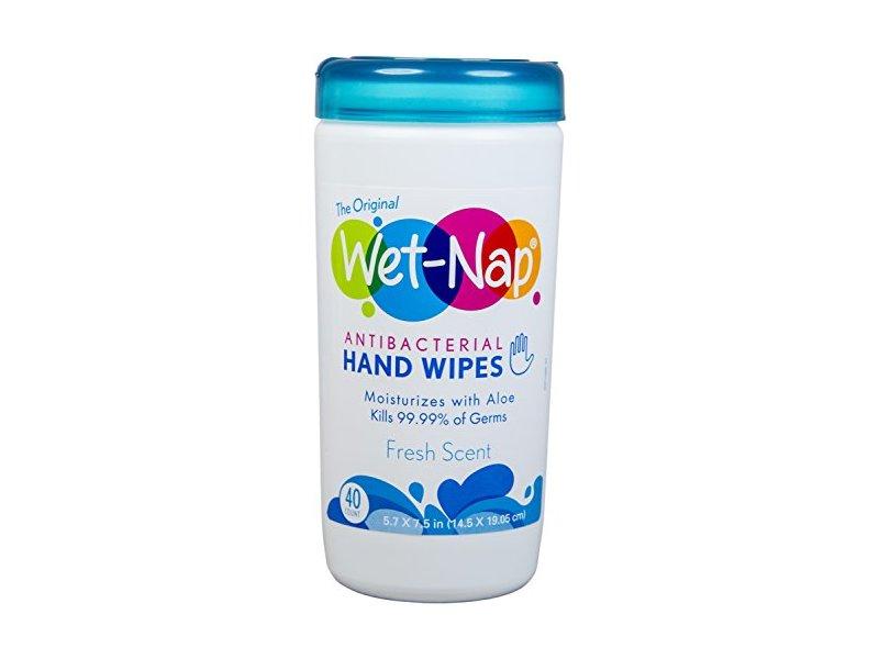 Wet-Nap Antibacterial Hand Wipes, Fresh Scent, 40 ct