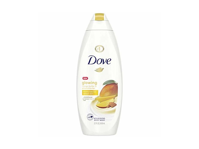 Dove Glowing Body Wash, Mango Butter and Almond Butter, 22 oz