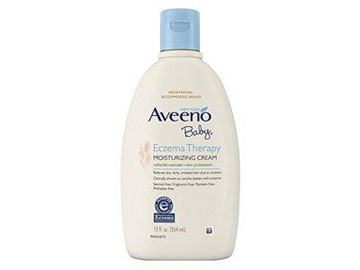 Aveeno Baby Eczema Therapy Moisturizing Cream, 12 Ounce - Image 1
