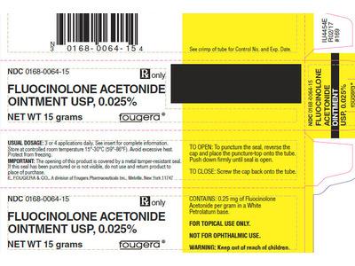 Fluocinolone Acetonide Ointment 0.025% (RX) 15 Grams, Sandoz