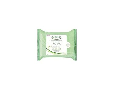 Simple Cleansing Facial Wipes, 7 CT