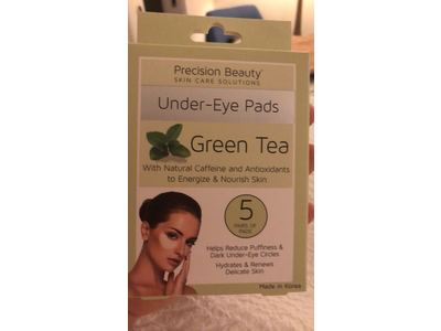 Precision Beauty Under-Eye Pads, Green Tea, 5 count