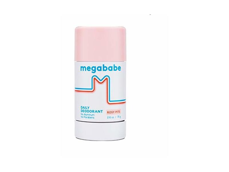 Megababe Daily Deodorant, Rosy Pits, 2.6 oz/75 g