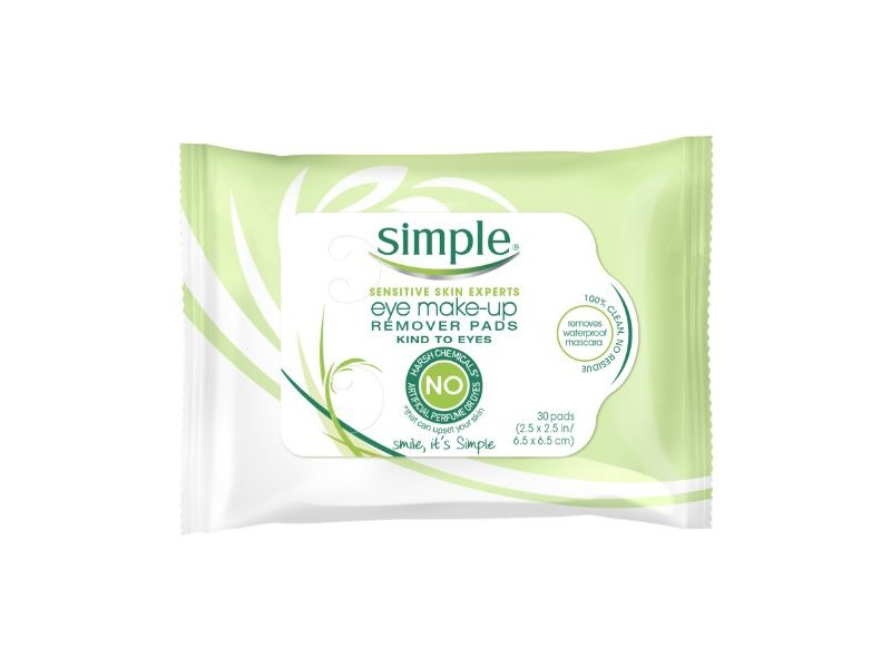 Simple Skincare Eye Make-up Remover Pads, 30 count