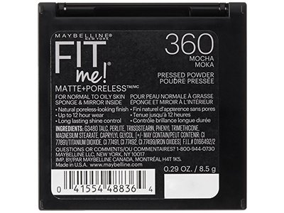 Maybelline New York Fit Me Matte Plus Poreless Powder, Mocha, 0.29 Ounce - Image 4