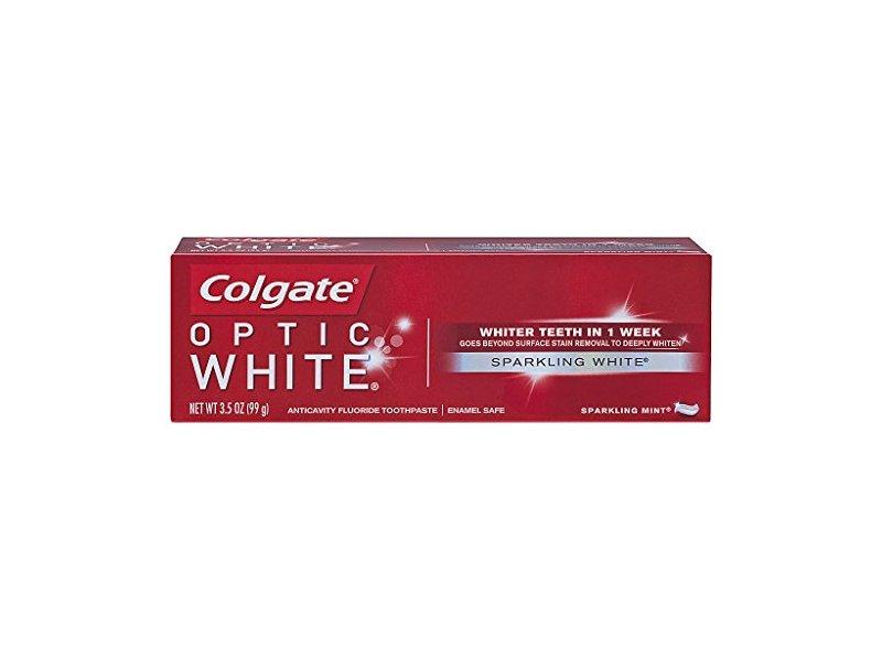 Colgate Optic White Toothpaste, Sparkling White, 3.5 oz