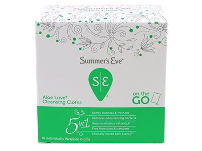 Summers Eve Cleansing Cloths Aloe Love , 16 count