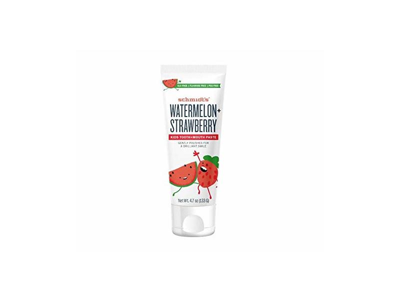 Schmidt's Toothpaste Kids, Watermelon Strawberry, 4.7 Ounce