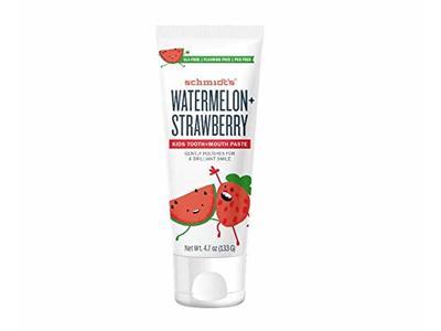 Schmidt's Toothpaste Kids, Watermelon Strawberry, 4.7 Ounce
