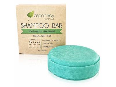 Aspen Kay Naturals Shampoo Bar, Rosemary & Peppermint, 0.3 oz