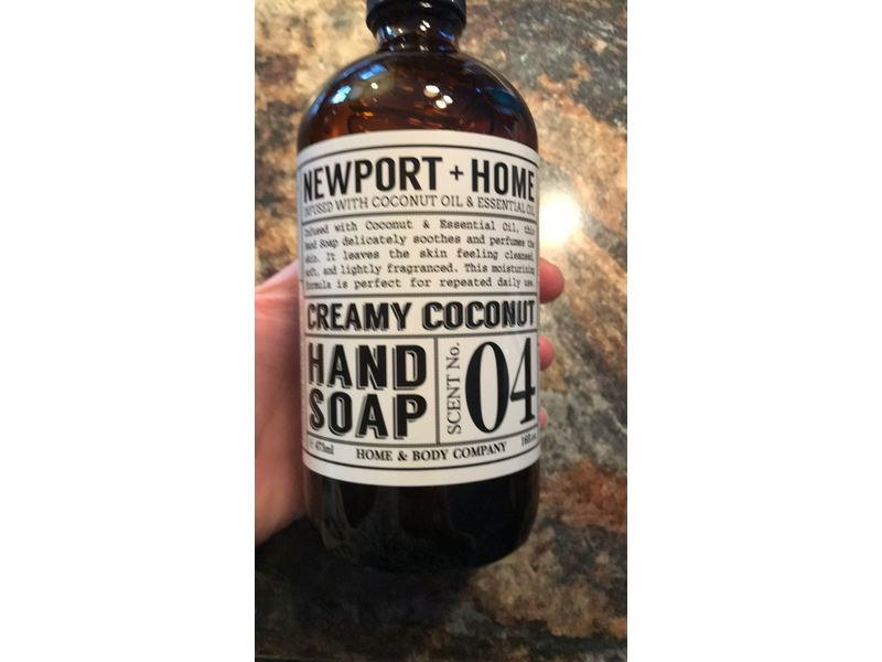 Home & Body Company Newport + Home Infused with Coconut Oils & Essential Oil Hand Soap, Creamy Coconut, 16 fl oz