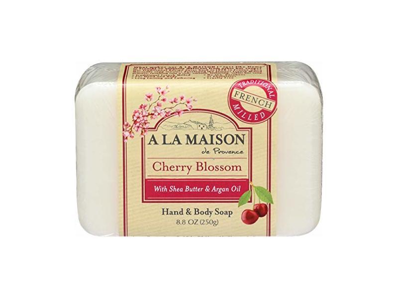 A La Maison, Bar Soap Hand Body Cherry Blossom, 8.8 Ounce