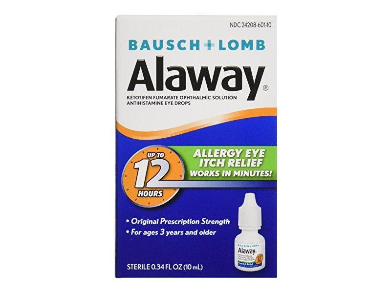 Bausch & Lomb Alaway Eye Itch Relief, 0.34 oz