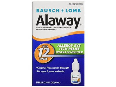 Bausch & Lomb Alaway Eye Itch Relief, 0.34 oz