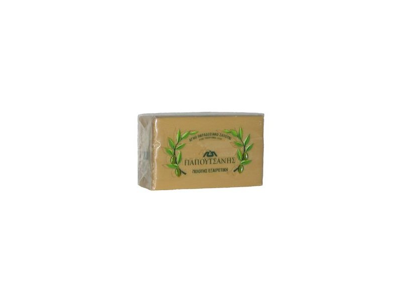 Papoutsanis Pure Greek Olive Oil Soap 4.4 Oz (125g) Bar
