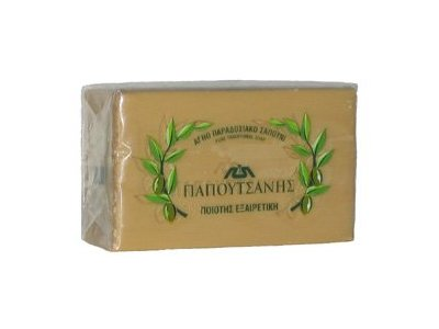 Papoutsanis Pure Greek Olive Oil Soap 4.4 Oz (125g) Bar - Image 1