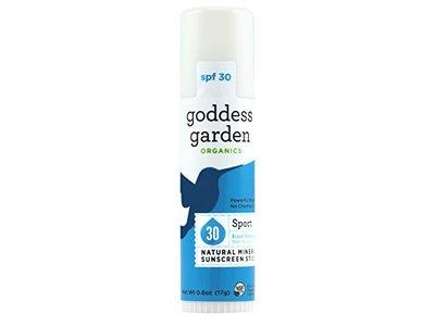 Goddess Garden Organics Sport Natural Mineral Based Sunscreen Stick, SPF 30, 0.6 Ounce (Pack of 12)