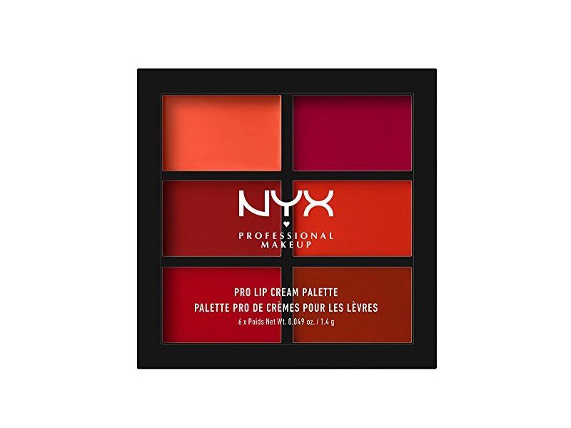NYX PROFESSIONAL MAKEUP Pro Lip Cream Palette, The Reds, 0.317 Ounce