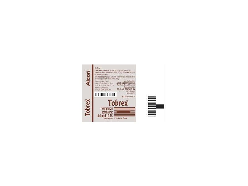 Tobrex Ophthalmic Ointment (RX), Alcon Laboratories, Inc