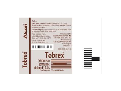 Tobrex Ophthalmic Ointment (RX), Alcon Laboratories, Inc - Image 1