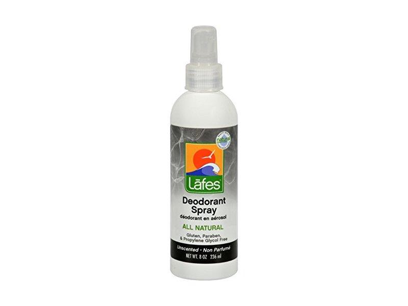 Lafe's Natural and Organic Deodorant Spray, with Aloe Vera, 8 oz
