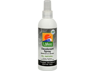 Lafe's Natural and Organic Deodorant Spray, with Aloe Vera, 8 oz