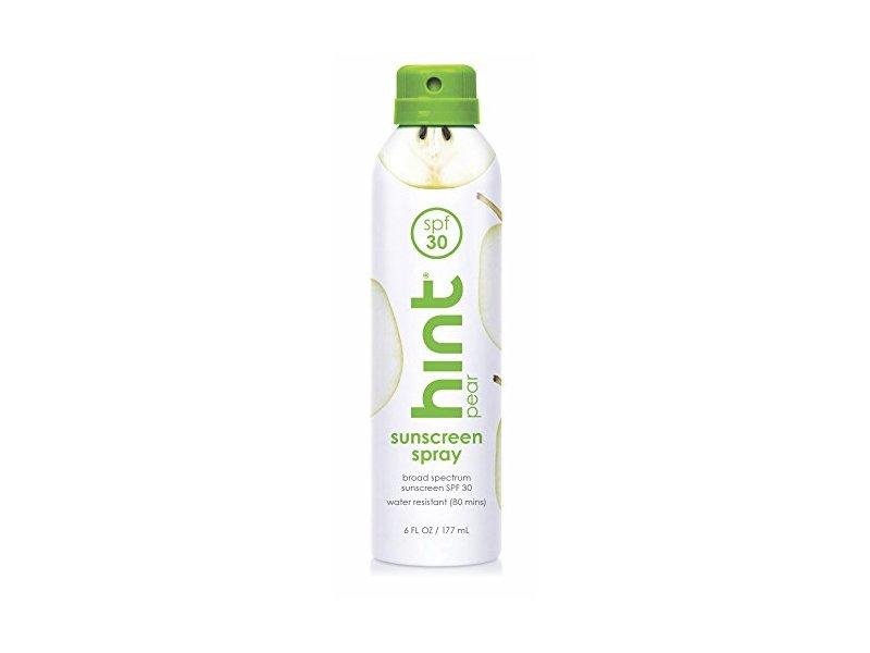 Hint Pear Sunscreen Spray SPF 30, 6 fl oz